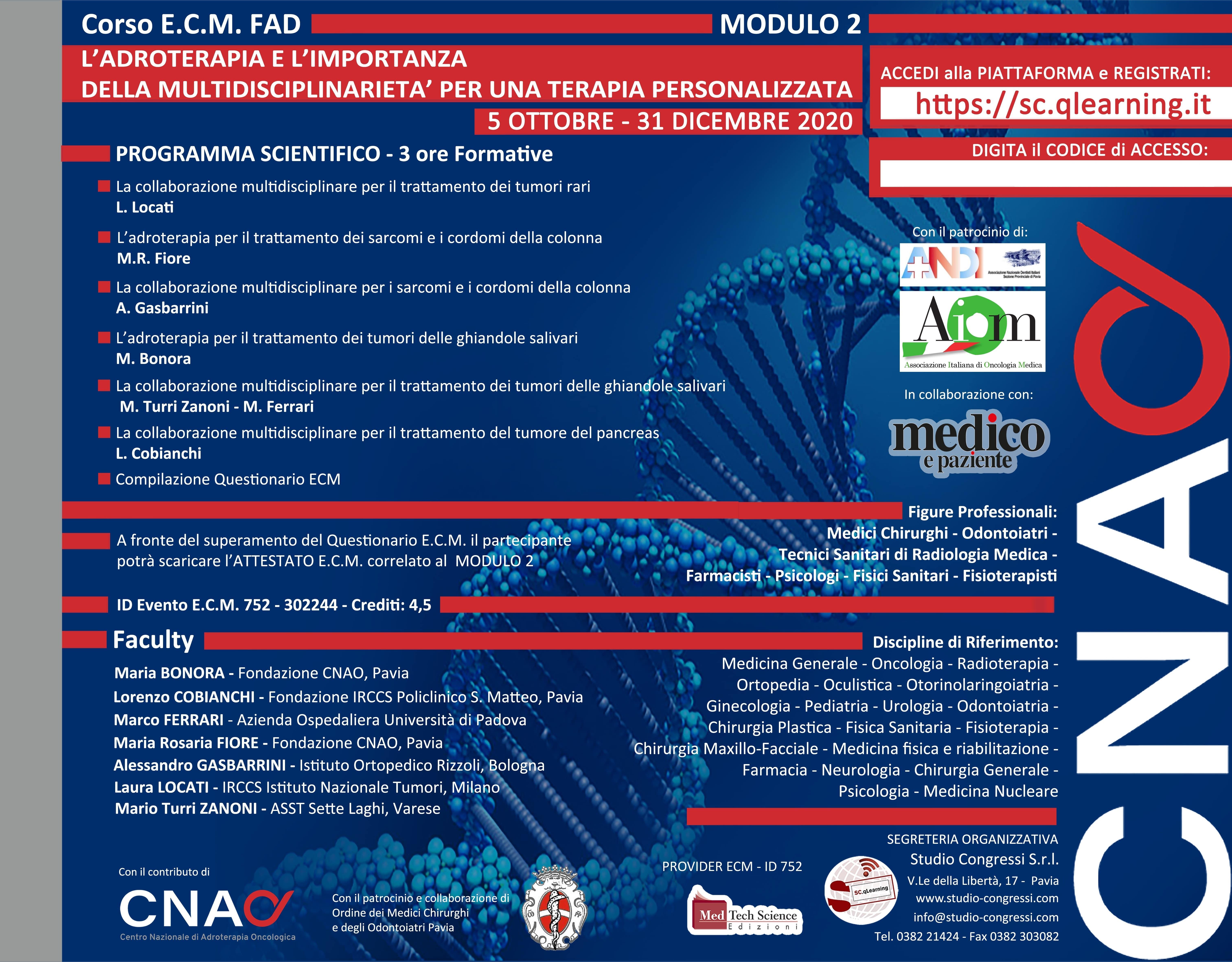 Fino al 31/12/20-L'ADROTERAPIA - Mod. 2